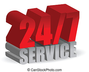 24/7, servicio