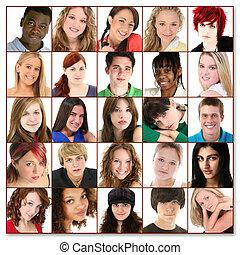 25 caras adolescentes