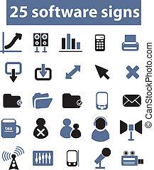 25, vector, señales, software