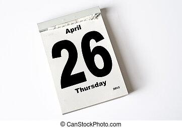 26. Abril de 2012
