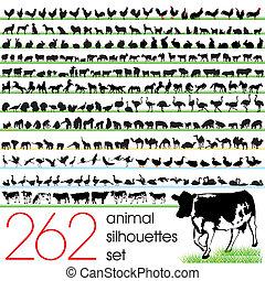 262 siluetas animales listas
