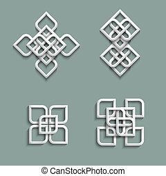 3 adornos al estilo árabe
