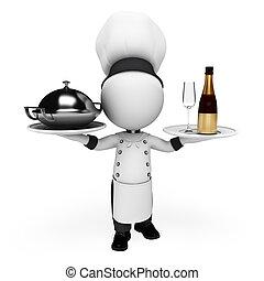 3 blancos como chef