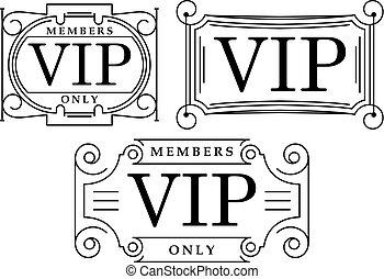 3 decorados VIP en blanco y negro