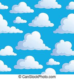 3, nubes, seamless, plano de fondo