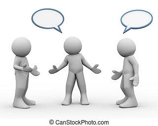 3 personas hablando