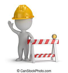 3 personas pequeñas, en construcción