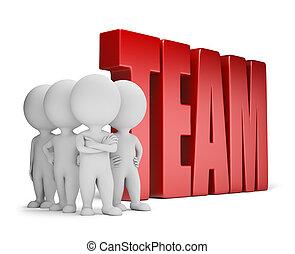 3 personas pequeñas - equipo confiable