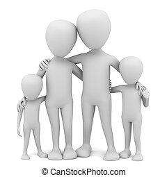3 personas pequeñas - familia.