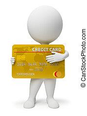 3 personas pequeñas - tarjeta de crédito