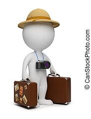 3 personas pequeñas - turista