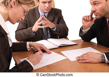 3, reunión, empresa / negocio