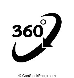 360 grado, icono
