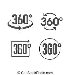 360, vista, grados