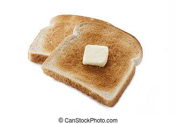 386 pan tostado con mantequilla