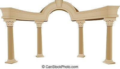 3D, arco y columna