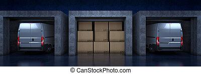 3d, arriba, camionetade departo, interpretación, rollo, door.