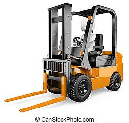 3D blancos. Forklift