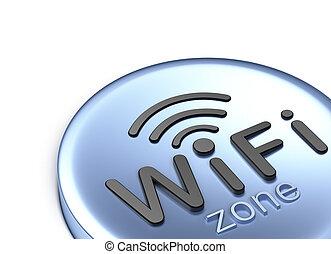 3d, concepto, zone., wifi