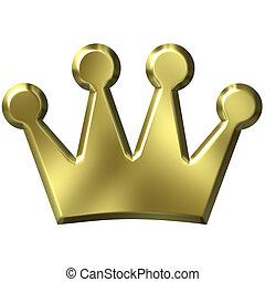 3D corona de oro
