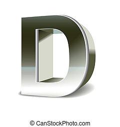3D de acero de acero D
