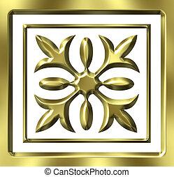 3D de oro