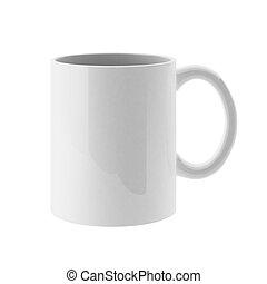 3d de taza blanca