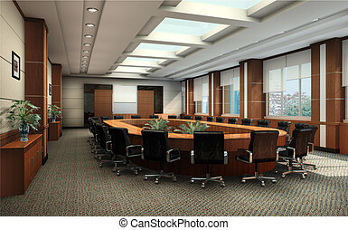 3D de una sala de conferencias