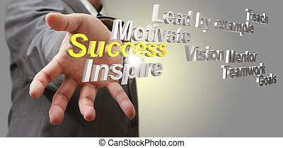 3d diagrama de éxito metálico como concepto