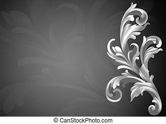 3d elemento de decoración clásica