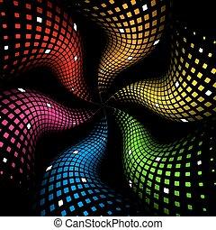 3d fondo abstracto del arco iris