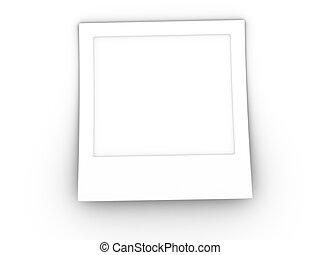 3d foto en blanco