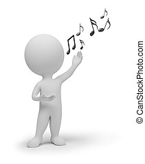 3d gente pequeña - cantante