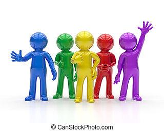3D gente pequeña, el mejor grupo