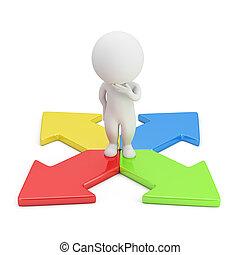 3d gente pequeña - elección de dirección