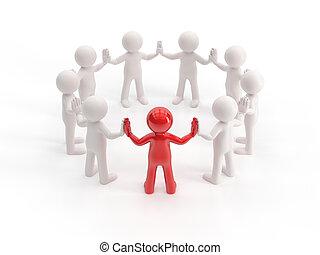 3D gente pequeña - líder