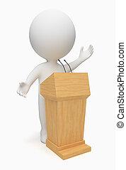 3d gente pequeña - orador