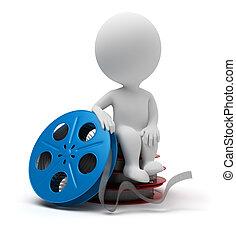 3d gente pequeña - rollo de película