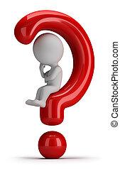 3d gente pequeña - se sienta en la pregunta