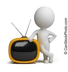 3d gente pequeña - TV retro