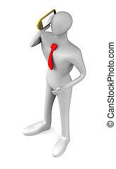 3D hablando por teléfono