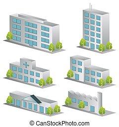 3d iconos de construcción listos