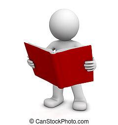 3D libro de lectura