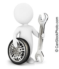 3D mecánico de blancos