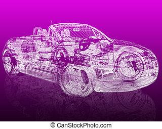 3d modelo de coche
