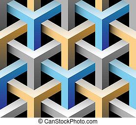 3d patrón industrial sin costura