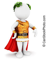 3D personas blancas emperador romano