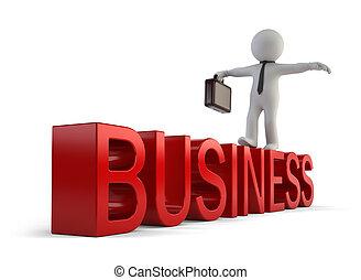 3D personas pequeñas - negocios