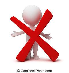 3d personas pequeñas - símbolo negativo