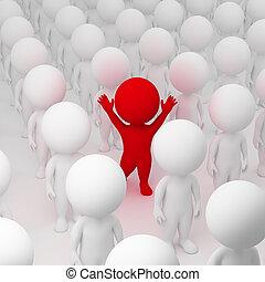 3D personas pequeñas - segregación